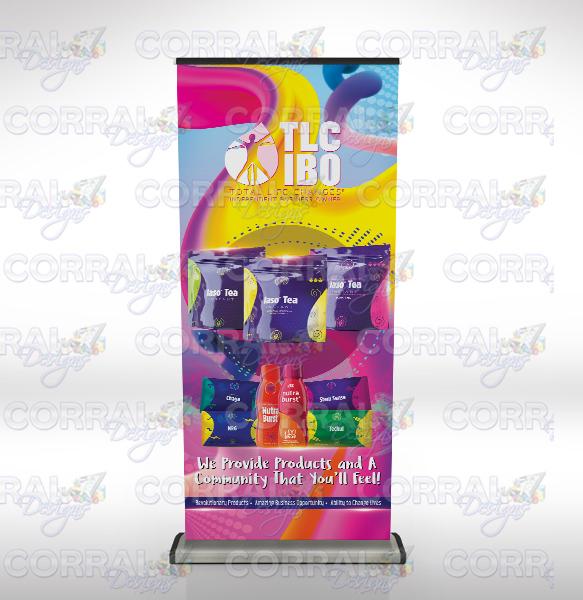 Total Life Changes TLC Iaso Tea retractable banner